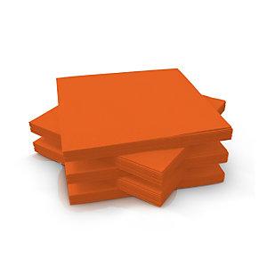 Duni Serviettes de table jetables en ouate 3 plis 33 x 33 cm - Mandarine