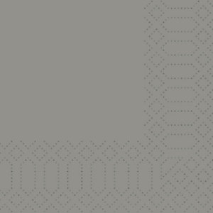 Duni Tovaglioli cellulosa, 2 veli, 24x24 cm, Granito (confezione 300 pezzi)