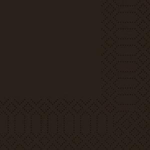 Duni Tovaglioli cellulosa, 2 veli, 24x24 cm, Nero (confezione 300 pezzi)