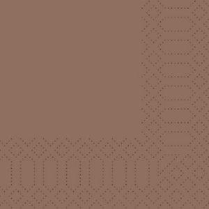 Duni Tovaglioli cellulosa, 2 veli, 33x33 cm, Nocciola (confezione 125 pezzi)