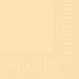 Duni Tovaglioli cellulosa, 2 veli, 40x40 cm, Crema (confezione 125 pezzi)