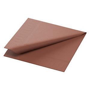 Duni Tovaglioli cellulosa, 2 veli, 40x40 cm, Nocciola (confezione 125 pezzi)