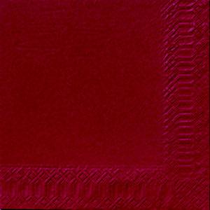 Duni Tovagliolo monouso, Cellulosa 2 veli, 240 x 240 mm, Tinta unita, Bordeaux (confezione 300 pezzi)
