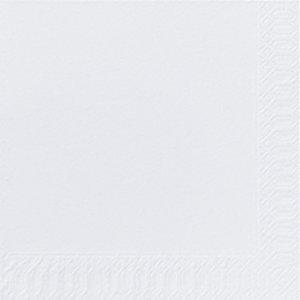 Duni Tovagliolo monouso, Cellulosa 2 veli, 33 x 33 cm, Tinta unita, Bianco (confezione 300 pezzi)