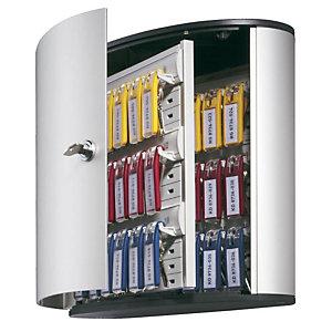 Durable Bacheca portachiavi in alluminio con sportello - Dimensioni cm 30,2 x 11,8 x 28 - 36 posti -