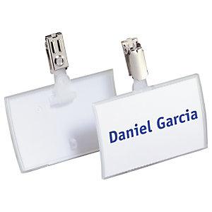 Durable Badge pliable Click Fold - Boîte de 25 badges 40 x 75 mm