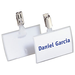 Durable Badge pliable  Click Fold clip - Boîte de 25