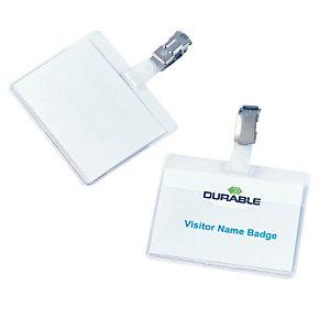 Durable Badges à clip, ouvert - Boîte de 25