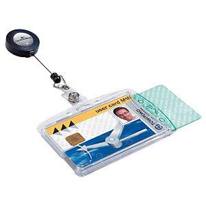 DURABLE Badges sécurité double à enrouleur - boîte de 10