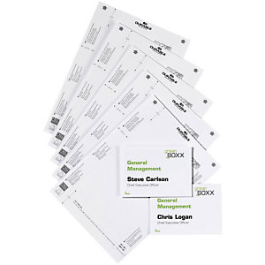 Durable Bristol pour plaques de porte. Format  A4. Norme PEFC