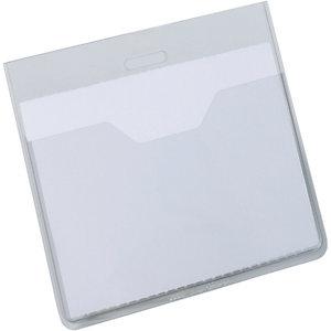 Durable Busta portanome a tasca aperta, 60 x 90 mm, Trasparente (confezione 20 pezzi)