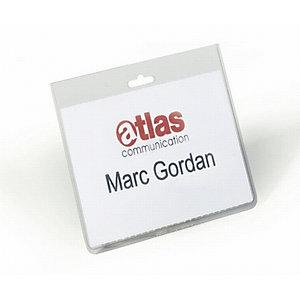 Durable Busta portanome a tasca chiusa, 60 x 90 mm, Trasparente (confezione 20 pezzi)