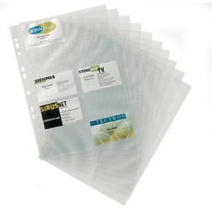 Durable Buste di ricambio per Visifix®, Foratura universale, Capacità 200 biglietti da visita, Trasparente (confezione 10 pezzi)