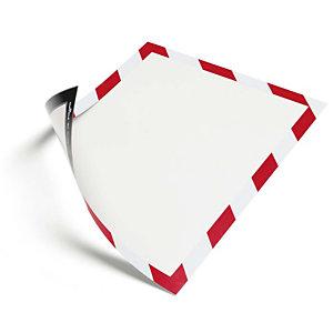DURABLE Cartel de plástico con marco magnético bicolor, Formato A4