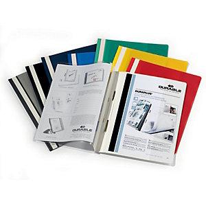 Durable Cartellina ad aghi Duraplus, A4, Colori assortiti (confezione 25 pezzi)