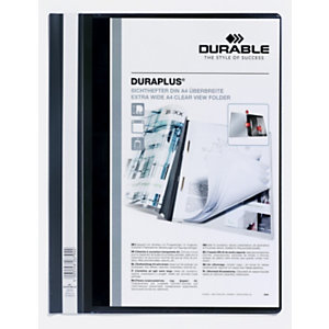 Durable Cartellina ad aghi Duraplus, A4, Nero (confezione 25 pezzi)