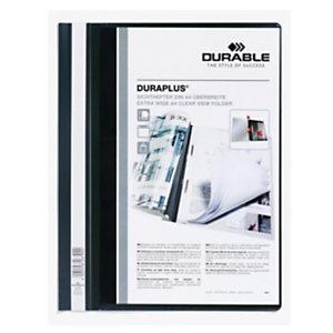 DURABLE Cartellina ad aghi Duraplus - copertina personalizzabile - 21x29,7 cm - nero - Durable