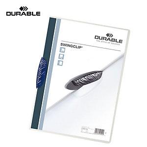 Durable Cartellina con fermafogli Swingclip, Capacità 30 fogli, Blu