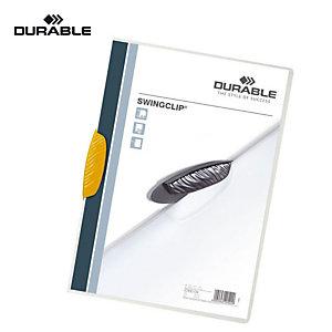 Durable Cartellina con fermafogli Swingclip, Capacità 30 fogli, Giallo