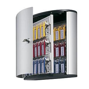 Durable Cassetta Portachiavi con Serratura Key Box 72, 72 posti, Alluminio, Argento