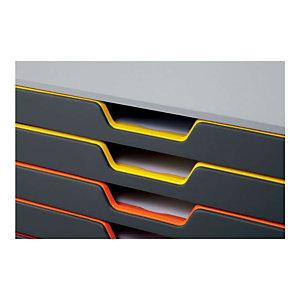 Durable Cassettiera 10 cassetti Varicolor® 10, Struttura grigia, cm 28 x 35,5 x 29,2 h