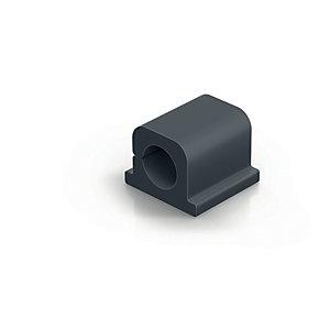 Durable CAVOLINE® CLIP PRO 1 Clip fermacavi adesiva per 1 cavo, Grafite (confezione 6 pezzi)