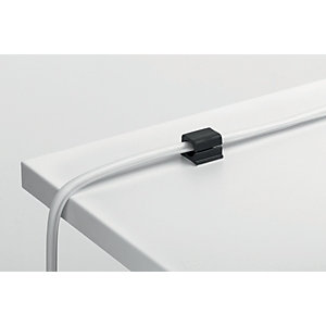 Durable CAVOLINE® CLIP PRO 2 Clip fermacavi adesiva per 2 cavi, Grafite (confezione 4 pezzi)