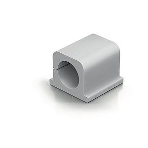 Durable CAVOLINE® CLIP PRO 2 Clip fermacavi adesiva per 2 cavi, Grigio (confezione 4 pezzi)