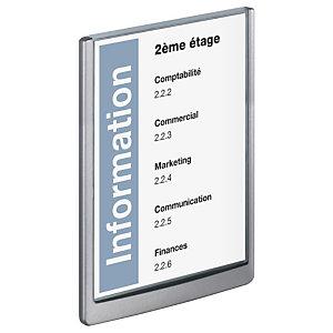 Durable CLICK SIGN, plaque de porte, plastique, A4 (210x297mm), graphite