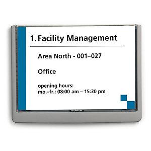 Durable CLICK SIGN' Soporte de letrero para puertas, Plástico, Tamaño A5 (210 x 148,5 mm), Grafito