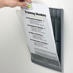 Durable CLICK SIGN, Targa per porte, Plastica, Formato A4 (210 x 297 mm), Grafite