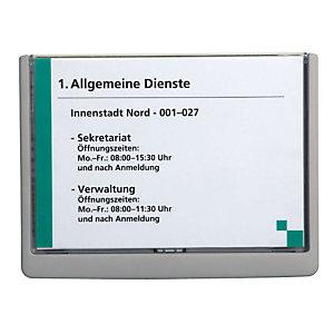 Durable CLICK SIGN, Targa per porte, Plastica, Formato A5 (210 x 148,5 mm), Grafite