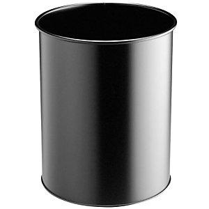 DURABLE Corbeille à papier métal 15 L DURABLE - Noir