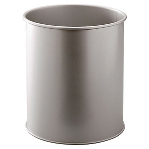 DURABLE Corbeille à papier métal DURABLE 15 L - Argent