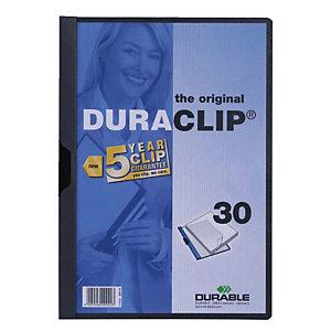 Durable DURACLIP 30 Dosier de pinza, A4, 30 hojas, gris antracita