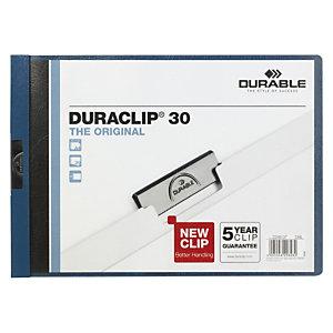 Durable Duraclip 30, Dossier de pinza, A4 apaisado, 30 hojas, azul oscuro