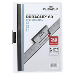 Durable DURACLIP 60 Dosier de pinza A4, capacidad para 60 hojas, blanco