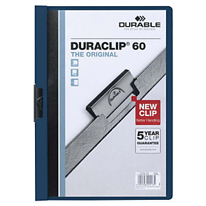 Durable Duraclip®, Dossier de pinza, A4, PVC, 60 hojas, azul noche