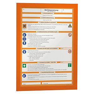 Durable Duraframe® Cartel adhesivo personalizable A4, naranja