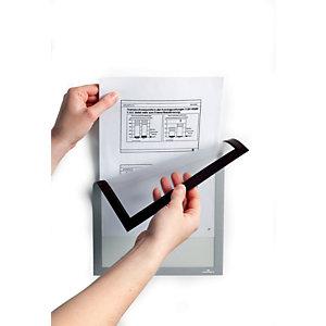 Durable Duraframe® Cornice portadocumenti magnetica, Formato A3, Argento (confezione 5 pezzi)