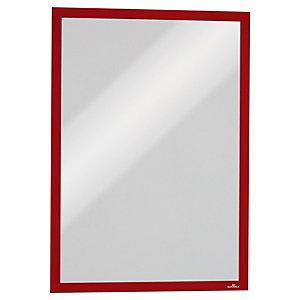 Durable Duraframe® Cornice portadocumenti magnetica, Formato A3, Rosso (confezione 5 pezzi)