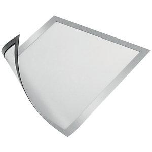 Durable Duraframe® Cornice portadocumenti magnetica, Formato A4, Argento (confezione 5 pezzi)