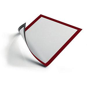 DURABLE Duraframe Pochette murale Cadre d'affichage magnétique A4 - Cadre rouge (lot de 5)