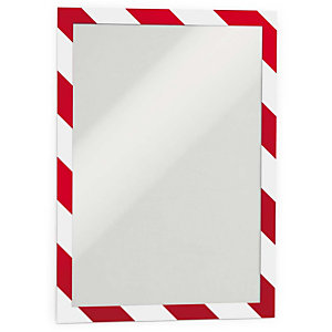 Durable Duraframe® Security Marco adhesivo personalizable A4, rojo y blanco