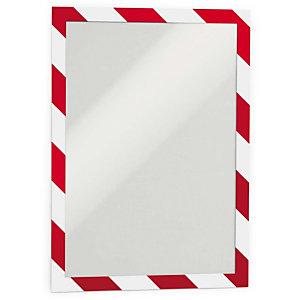 Durable Duraframe® Security Marco adhesivo personalizable A4, rojo y blanco