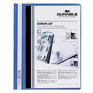 Durable Duraplus, Dossier fástener plástico, A4, PVC, 40 hojas, azul