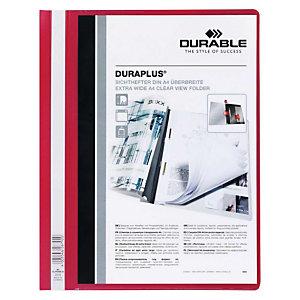 Durable Duraplus, Dossier fástener, A4, rojo