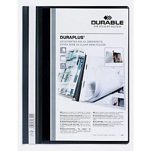 Durable Duraplus, Dossier fástener plástico, A4, PVC, 40 hojas, negro