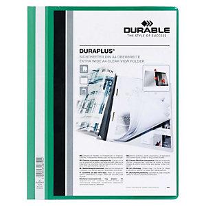 Durable Duraplus, Dossier fástener plástico, A4, PVC, 40 hojas, verde