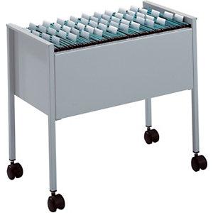 Durable ECONOMY Carrello per cartelle sospese, Acciaio, Capacità 80 cartelle, A4, 66 x 37 x 59 cm, Grigio